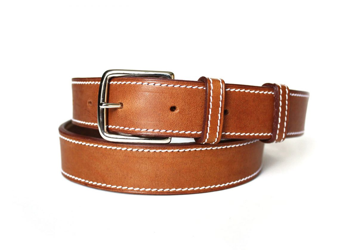 ceinture cuir sur mesure camel