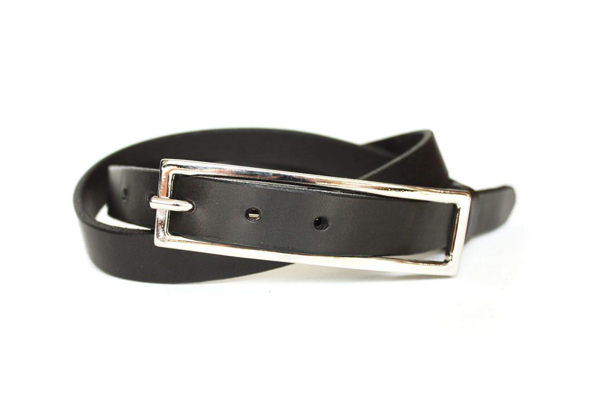 ceinture cuir femme noir
