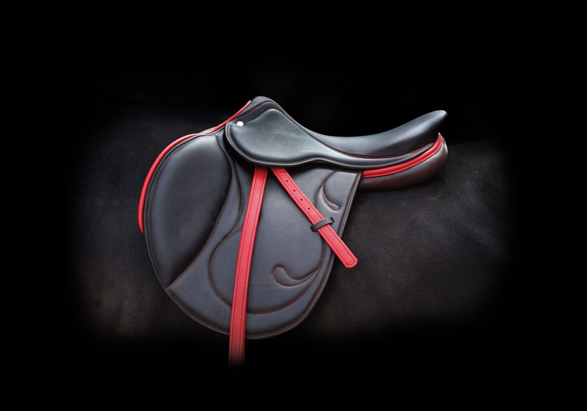 selle obstacle doublée veau sur-mesue